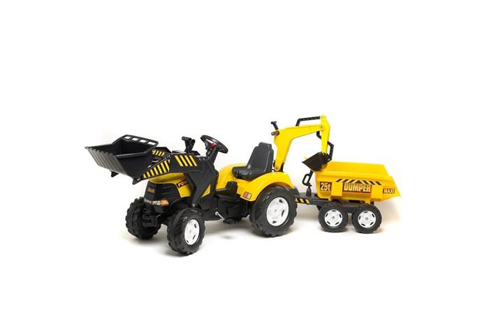 Детский транспорт , Педальные машины Falk Трактор-экскаватор с прицепом 1000W/1005W/1002W арт: 27837 -  Педальные машины