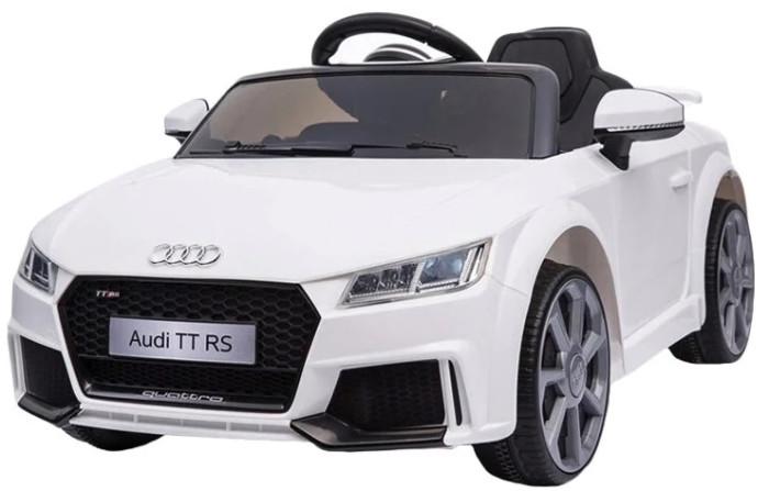 Электромобиль Farfello Audi Licensed TT RS JЕ1198Audi Licensed TT RS JЕ1198Farfello Электромобиль Audi Licensed TT RS JЕ1198 с дистанционным управлением для детей от 3 до 8 лет. Он сможет покорить всех, кто предпочитает спортивные машины. В машине очень много функций, которые понравятся не только юному автолюбителю, но и его родителям. Все функциональные кнопки и рычаги, находятся на панели приборов. Светящиеся дисплеи, цифровой вольтметр, показывающий оставшуюся мощность аккумулятора, плеер с 6-ю хитами известных исполнителей, кнопочными регуляторами звука и выбора мелодий, гнездо для карты TF (Micro SD- только в формате MP3), аудио вход с разъемом mini-Jack – 3,5 мм, для подключения МР3 – плеера или телефона, интерфейс USB. Звуковые эффекты (клаксон и рычание мотора), рычаг и кнопка переключения скоростей, открывающиеся дверцы, светящиеся фары.   Особенности:  Модель выдерживает нагрузку до 30 кг Машина оснащена двумя двигателями и аккумулятором на 12V Заводится с кнопки Две скорости вперед 3-5 км/ч, одна - назад Газ и тормоз регулируются педалью Двухточечный ремень безопасности Индивидуальный ПДУ Аудиоадаптер<br>