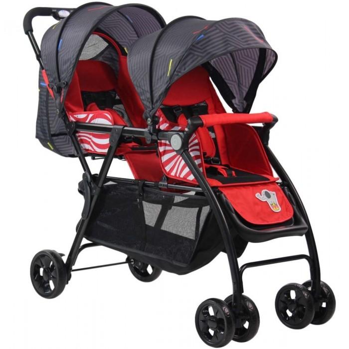 Farfello Прогулочная коляска для двойни и погодок 705Прогулочная коляска для двойни и погодок 705Farfello Прогулочная коляска для двойни и погодок 705 - идеальная компактная коляска для городских прогулок и путешествий с двумя малышами: близнецами или погодками. Коляска имеет удобную конфигурацию, в которой блоки располагаются друг за другом, что позволит проходить с ней в любом месте. При этом передний блок имеет одно положение – «сидя», задний блок может раскладываться в положение «лежа».  Особенности: Механизм складывания - «книжка». Коляску можно сложить одной рукой, нажав на кнопку, расположенную на ручке, предварительно передвинув влево защитный блокировочный механизм, двигая рукой вперед и вниз. Так же легко коляска разбирается: отжав блокировочный крючок на раме и удерживая кнопку на ручке, движением «к себе» и  вверх до щелчка. Передний прогулочный блок имеет удобный поручень, который можно при желании убрать одновременным нажатием кнопок в местах фиксации поручня к раме.  При помощи ремешка, расположенного на спинке заднего прогулочного блока, наклон его сиденья легко отрегулировать до положения лежа, на переднем блоке есть возможность увеличения посадочного места в длину с помощью выдвижной подножки. Передние двойные поворотные колеса с фиксацией с помощью кнопки, задние – одинарные, что повышает маневренность коляски, несмотря на увеличенную длину.  Под сидением расположена вместительная багажная корзина. Оба блока имеют складные капюшоны, на капюшоне заднего блока есть смотровое сетчатое окошко для наблюдения за ребенком. Для обеспечения безопасности детей оба прогулочных блока оснащены пятиточечными регулируемыми ремнями безопасности. Мягкие плечевые накладки обеспечивают дополнительный комфорт и удобное положение детей.  Удобная, нерегулируемая ручка с не скользящей накладкой. Облегченное алюминиевое шасси. Педальный ножной тормоз. Регулировка высоты подножки. Размер посадочного места: 32х24 см Диаметр передних колес: 16 см Диаметр задних колес: 19 см