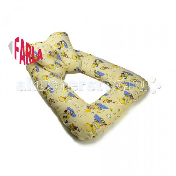 Farla Подушка для новорожденных MiloПодушка для новорожденных MiloКомплект подушек Farla Milo разработан специально для самых маленьких. Он состоит из двух подушек, которые можно использовать по отдельности. Маленькая подушка может использоваться в колыбели вместо обычной подушки для новорожденных, подушку побольше можно использовать как бортики, когда малыш находится на родительской кровати.  В комплекте эти подушки представляют собой уютное гнёздышко, в котором ребёнка можно оставить на некоторое время, не беспокоясь о том, что он перевернётся или упадет. Верхняя подушечка крепится к основе с помощью завязок.  Когда малыш подрастёт, подушки станут для него интересной игрушкой. Они могут быть лодкой, домиком, крепостью.  Если вы выбираете подарок для молодой мамы, комплект подушек для новорожденного Farla Milo станет необычным и действительно практичным подарком.   Размеры:  Основы - 110х80х12 см Подушечки - 48х45х8 см   Верх и наволочка - 100% хлопок Наполнитель - 100% полиэфирное волокно (Гипоаллергенно)<br>