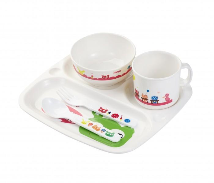 Аксессуары для кормления , Посуда Farlin Набор посуды для кормления 5 предметов арт: 375874 -  Посуда