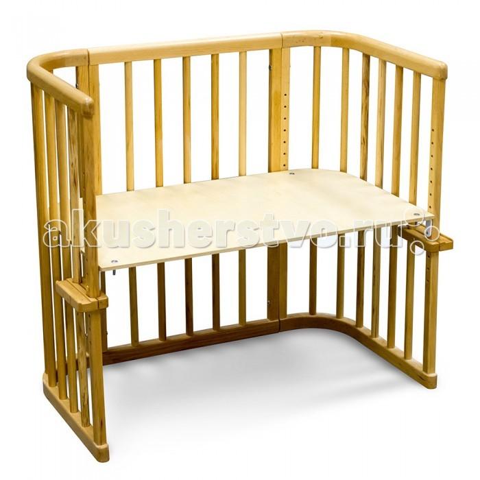 Кроватка-трансформер Феалта-baby Альянс 2 в 1Альянс 2 в 1Феалта-baby Кроватка приставная Альянс 2 в 1 создана для удобства малыша и мамы, достаточно прикрепить ее к постели родителей, и ребенок под постоянным присмотром, но привыкает спать в своей кроватке.  Изготовлена Феалта-baby Альянс 2 в 1 из высококачественных сертифицированных натуральных материалов: березовой фанеры, буковой древесины и МДФ и покрыта гипоалергенным бесцветным лаком.   Кроватка имеет две трансформации: Приставная кровать Детский столик. Дно кроватки можно зафиксировать в 15 различных положениях, первый из которых расположен на высоте 34 см от пола, следующие уровни располагаются на одинаковом расстоянии. Самый высокий уровень дна  предназначен для трансформации столик. Крепления к родительской кровати также регулируются. Вес кроватки: 12 кг  Размер спального места: 85 х 48 см<br>