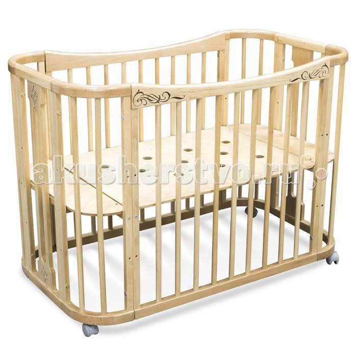 Кроватка-трансформер Феалта-baby Жемчужина 2 в 1Жемчужина 2 в 1Феалта-baby Кроватка-трансформер Жемчужина 2 в 1 для новорожденных как нельзя лучше подойдет для самых маленьких детишек, возраст которых не превышает пяти лет.   Мы позаботились о том, чтобы люлька для новорожденных на колесах была не только изготовлена из экологических чистых материалов, но и была полностью безопасна.   Модель оснащена колесиками мягкого хода, благодаря которым вы спокойно можете катать вашего ребенка по квартире, помогая ему заснуть. Такая детская кроватка на колесиках легко собирается. С учетом положения колес родитель может менять расположение кроватки, тем самым делая процесс погружения в сон более удобным.  Виды трансформации: кроватка от 0 до 5 лет диванчик до 8 лет Комплект: кроватка в разобранном виде для всех трансформаций фурнитура колесики - 4 шт. мягкого хода серого цвета инструкция по сборке Кроватка имеет 3 положения уровней дна (с учетом высоты колес): 31 см, 46 см, 61 см  Размер спального места 121 х 63 см.<br>
