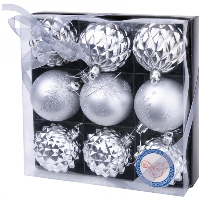 Фото - Елочные игрушки Феникс Презент Набор пластиковых шаров 60 мм 9 шт. набор стеклянных шаров рождественские сны 60 мм 20 шт