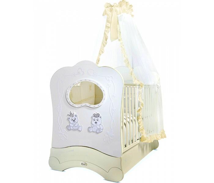 Картинка для Детская кроватка Feretti Majesty Brillante FMS OBLO продольный маятник