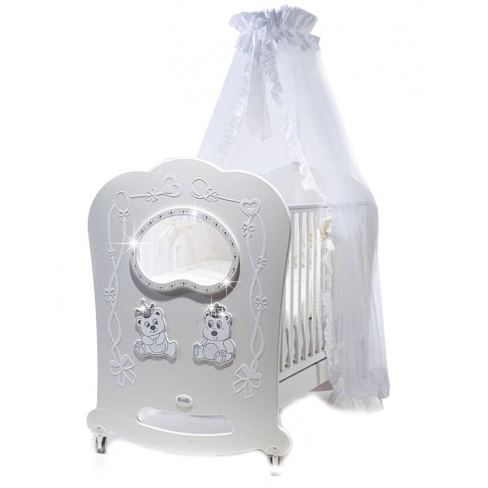 Детские кроватки Feretti Majesty Brillante OBLO качалка кроватка с маятником feretti fms oblo majesty brillante bianco