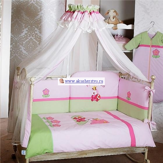 Комплект в кроватку Feretti Princess Sestetto Long (6 предметов)