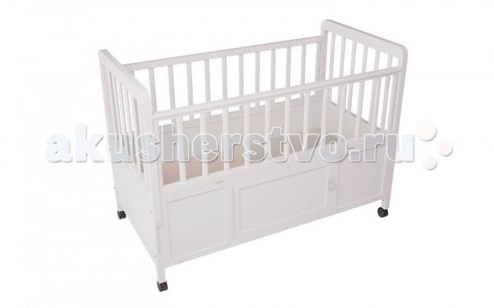Детская кроватка Фея 408408Детская кроватка Фея 408 обеспечит уютный сон вашему малышу!  Подходит детям с рождения, до 3 лет кроватка используется с боковыми ограждениями, а после того, как ребенок подрос - трансформируется в более длинный вариант.  Особенности: 4 уровня высоты ложа, откидные боковые стенки, ортопедическое ложе 120х60см, подростковый вариант 160х60см. одна спинка откидывается для продолжения спального места, мягкое основание ложа толщиной 1см. (изножье 40х60 см.), колеса в комплекте, ящик в основании кровати с открывающейся дверкой, массив березы.  Габариты(ДхШхВ) – 124,8 х 67,5 х 105 см.<br>