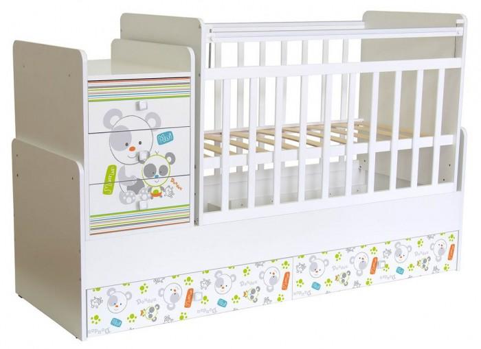 Детская мебель , Кроватки-трансформеры Фея 1100 Панды арт: 330145 -  Кроватки-трансформеры