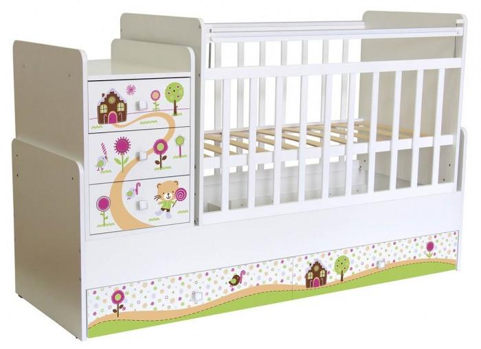 Купить Кроватки-трансформеры, Кроватка-трансформер Фея 1100 Пряничный домик