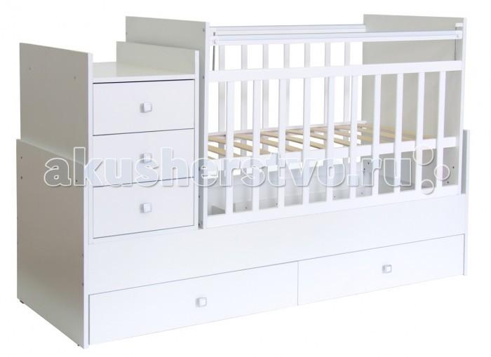 Детская мебель , Кроватки-трансформеры Фея 1200 арт: 16478 -  Кроватки-трансформеры