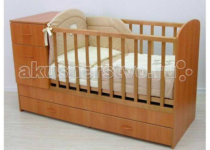 Кроватка-трансформер Фея 1200