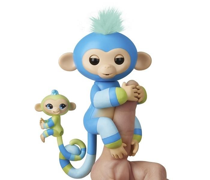 Интерактивная игрушка Fingerlings Обезьянка с малышом 12 см