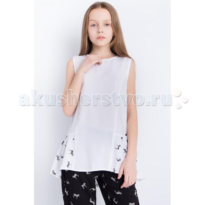 Детская одежда , Блузки и рубашки Finn Flare Kids Блузка для девочки KS18-71045 арт: 514176 -  Блузки и рубашки