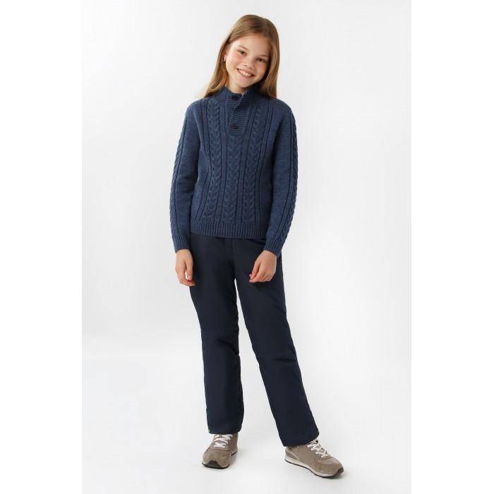 Брюки и джинсы Finn Flare Kids Брюки для девочки KA19-71017 брюки quechua брюки утепленные для мальчиков hike 100
