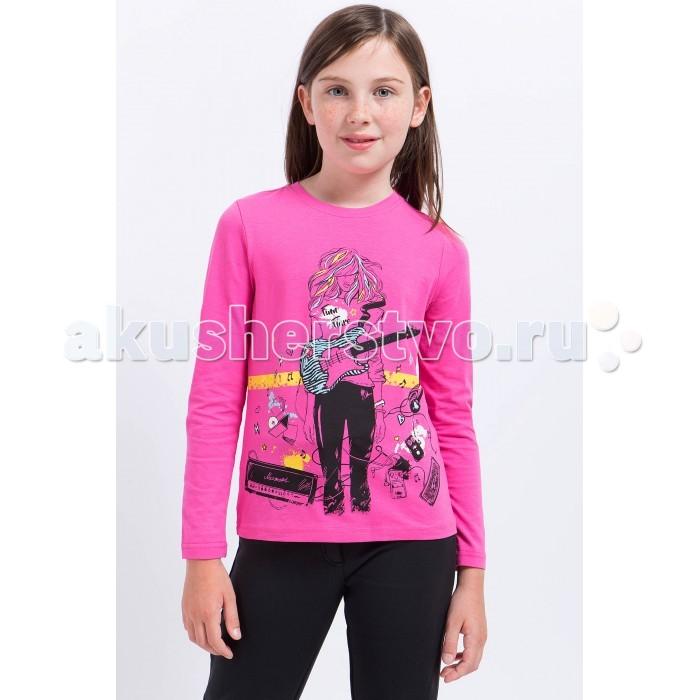 Детская одежда , Водолазки и лонгсливы Finn Flare Kids Джемпер для девочки KA17-71021 арт: 370958 -  Водолазки и лонгсливы
