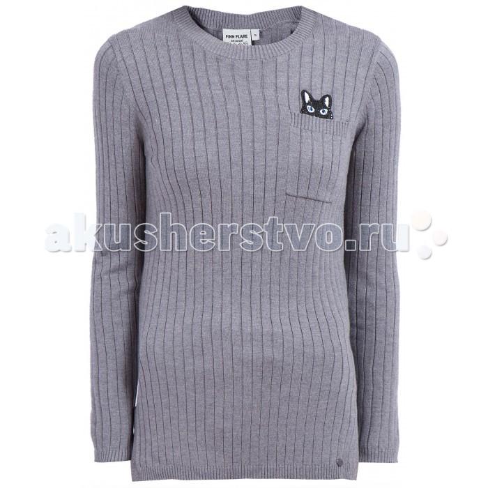 Детская одежда , Джемперы, свитера, пуловеры Finn Flare Kids Джемпер для девочки KW17-71128 арт: 415279 -  Джемперы, свитера, пуловеры