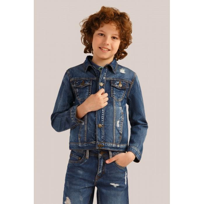 Купить Ветровки, плащи, дождевики и жилеты, Finn Flare Kids Джинсовая куртка для мальчика KS19-85019