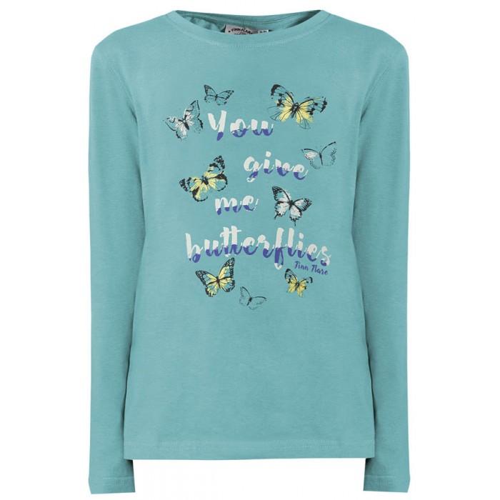 Детская одежда , Водолазки и лонгсливы Finn Flare Kids Футболка KB18-71028 арт: 474581 -  Водолазки и лонгсливы