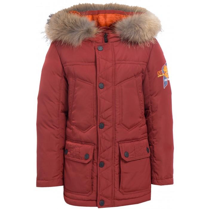 Finn Flare Kids Куртка для мальчика KA17-81006Куртка для мальчика KA17-81006Finn Flare Kids Куртка для мальчика KA17-81006  Классическая тёплая куртка прямого кроя станет отличный демисезонным вариантом верхней одежды. Модель застёгивается на молнию и пуговицы-кнопки, имеется капюшон на утяжках. По бокам расположены карманы. Подкладка выполнена из полиэстера, известного своими влагоотводящими свойствами.   Состав:  - Основной материал: 100% полиэстер - Подкладка: 50% вискоза, 50% полиэстер - Утеплитель: 80/20%  пух/перо - Плотность утеплителя, г/м2: 280  - Мех: енот натуральный  Уход: Машинная стирка в щадящем режиме при максимальной температуре 30°C.  Финский бренд Finn Flare предлагает широкий ассортимент качественной продукции. Модные брендовые вещи являются уникальным предложением для тех, кто предпочитает комфорт и обладает хорошим вкусом. Финская компания уже более полувека создает оригинальные и стильные линейки одежды, обуви и аксессуаров.<br>