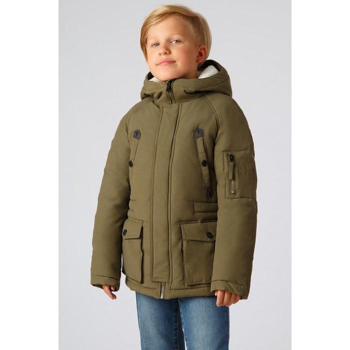 Finn Flare Kids Куртка для мальчика KA18-81011Куртки, пальто, пуховики<br>Finn Flare Kids Куртка для мальчика прямого покроя с карманами, капюшон несъёмный.  Состав: Основной материал: 62% хлопок, 38% нейлон Подкладка: 50% вискоза, 50% полиэстер Утеплитель: 100% полиэстер Рекомендации по уходу: Машинная стирка в щадящем режиме при максимальной температуре 30°C, не отбеливать, не сушить в стиральной машине, гладить при максимальной температуре 110°C, щадящая чистка кроме трихлорэтилена.  Финский бренд Finn Flare предлагает широкий ассортимент качественной продукции. Модные брендовые вещи являются уникальным предложением для тех, кто предпочитает комфорт и обладает хорошим вкусом. Финская компания уже более полувека создает оригинальные и стильные линейки одежды, обуви и аксессуаров.