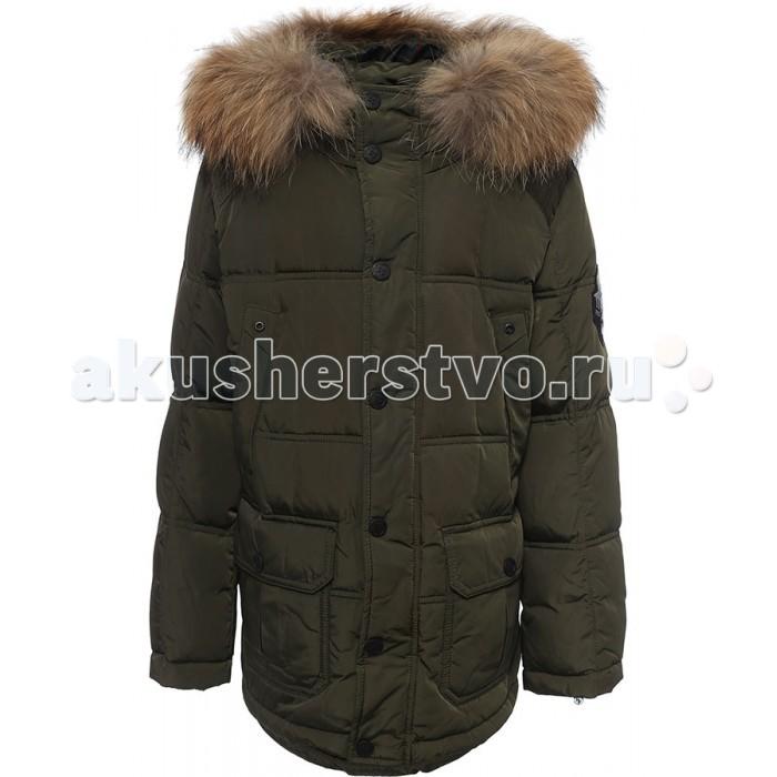 Finn Flare Kids Куртка для мальчика KW16-81002Куртка для мальчика KW16-81002Finn Flare Kids Куртка для мальчика KW16-81002  Стильная и комфортная куртка для мальчика выполнена из прочного материала с утеплителем пух/перо, который имеет отличные теплоизоляционные свойства и является идеальным наполнителем для зимней одежды.  Модель прямого кроя застёгивается на молнию, расположенную по длине куртки, имеет планку на кнопках. Карманы прорезные и накладные на кнопках. Капюшон отделан натуральным мехом.  Состав:  - Основной материал: 100% полиэстер - Подкладка: 100% полиэстер - Утеплитель: 80/20%  пух/перо - Плотность утеплителя, г/м2: 315 - Мех: енот натуральный - Фактура материала: Плащевая ткань  Уход: Машинная стирка в щадящем режиме при максимальной температуре 30°C.  Финский бренд Finn Flare предлагает широкий ассортимент качественной продукции. Модные брендовые вещи являются уникальным предложением для тех, кто предпочитает комфорт и обладает хорошим вкусом. Финская компания уже более полувека создает оригинальные и стильные линейки одежды, обуви и аксессуаров.<br>