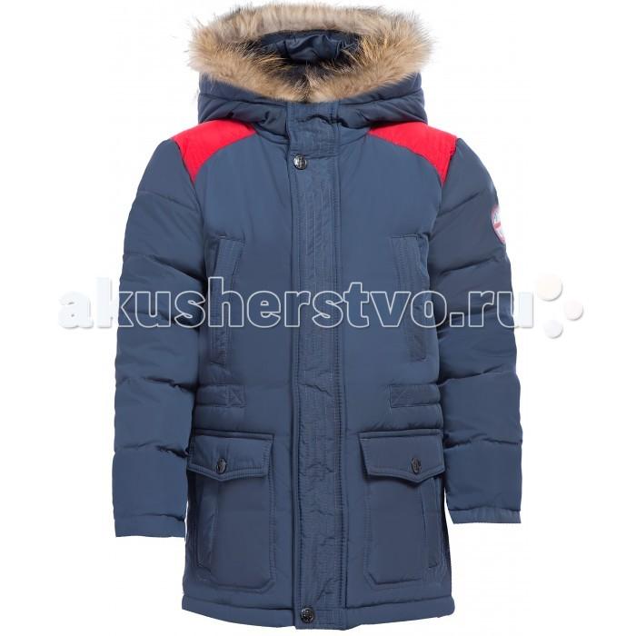 Finn Flare Kids Куртка для мальчика KW17-81002Куртка для мальчика KW17-81002Finn Flare Kids Куртка для мальчика KW17-81002  Стильная и комфортная куртка для мальчика выполнена из прочного материала с утеплителем пух/перо, который имеет отличные теплоизоляционные свойства и является идеальным наполнителем для зимней одежды.  Модель прямого кроя застёгивается на молнию, расположенную по длине куртки. Карманы накладные на кнопках. Капюшон отделан натуральным мехом.  Состав: - Основной материал: 100% полиэстер - Подкладка: 50% вискоза, 50% полиэстер - Утеплитель: 80/20% пух/перо - Мех: енот натуральный - Фактура материала: Плащевая ткань  Уход: Машинная стирка в щадящем режиме при максимальной температуре 30°C.  Финский бренд Finn Flare предлагает широкий ассортимент качественной продукции. Модные брендовые вещи являются уникальным предложением для тех, кто предпочитает комфорт и обладает хорошим вкусом. Финская компания уже более полувека создает оригинальные и стильные линейки одежды, обуви и аксессуаров.<br>