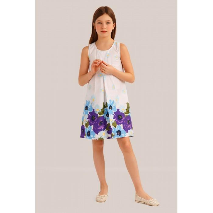 Finn Flare Kids Платье для девочки KS19-71027Детские платья и сарафаны<br>Finn Flare Kids Платье для девочки KS19-71027  В гардеробе юной леди неизменной составляющей является платье. Легкое и красивое платье для девочки Finn Flare Kids станет отличным дополнением к гардеробу маленькой модницы. Изготовленное из высококачественного материала, оно мягкое и приятное на ощупь, не сковывает движения и хорошо пропускает воздух. Платье с круглым вырезом горловины. Изделие оформлено принтом. В таком платье маленькая принцесса всегда будет в центре внимания!  Состав: 100% хлопок  Уход: Машинная стирка в щадящем режиме при максимальной температуре 30°C.  Финский бренд Finn Flare предлагает широкий ассортимент качественной продукции. Модные брендовые вещи являются уникальным предложением для тех, кто предпочитает комфорт и обладает хорошим вкусом. Финская компания уже более полувека создает оригинальные и стильные линейки одежды, обуви и аксессуаров.