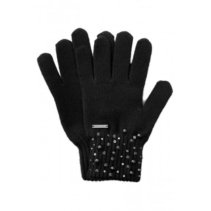 Детская одежда , Варежки, перчатки и шарфы Finn Flare Kids Вязаные перчатки для девочки KW17-71122 арт: 439614 -  Варежки, перчатки и шарфы