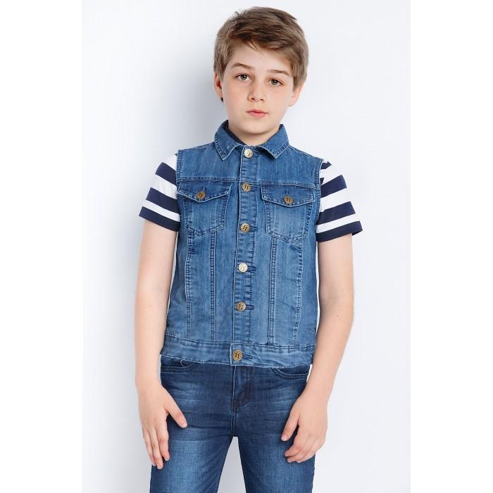 Пиджаки, жакеты, жилетки, Finn Flare Kids Жилет для мальчика KS18-85008  - купить со скидкой