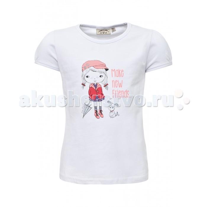 Детская одежда , Футболки и топы Finn Flare Kids Футболка для девочки KB17-71038 арт: 302844 -  Футболки и топы