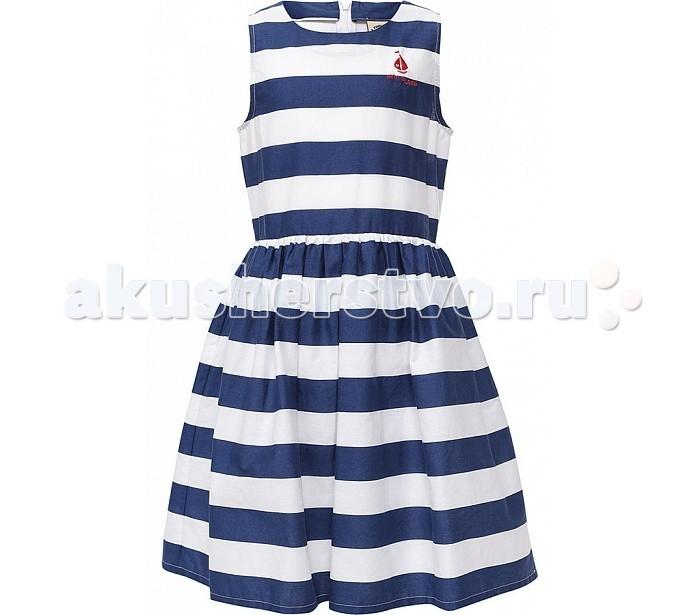 Finn Flare Kids Платье KS17-71027Платье KS17-71027Finn Flare Kids Платье KS17-71027  В гардеробе юной леди неизменной составляющей является платье. Легкое и красивое платье для девочки Finn Flare Kids станет отличным дополнением к гардеробу маленькой модницы. Изготовленное из высококачественного хлопка, оно мягкое и приятное на ощупь, не сковывает движения и хорошо пропускает воздух. Платье для девочки прилегающего покроя расширенного к низу, с принтом в полоску. В таком платье маленькая принцесса всегда будет в центре внимания!  - Фактура материала: Текстильный - Вид застежки: Молния - Длина рукава: Без рукавов - Тип карманов: Без карманов  Состав:  - Основной материал: 100% хлопок - Подкладка: 65% полиэстер, 35% хлопок  Уход: Машинная стирка в щадящем режиме при максимальной температуре 30°C.  Финский бренд Finn Flare предлагает широкий ассортимент качественной продукции. Модные брендовые вещи являются уникальным предложением для тех, кто предпочитает комфорт и обладает хорошим вкусом. Финская компания уже более полувека создает оригинальные и стильные линейки одежды, обуви и аксессуаров.<br>