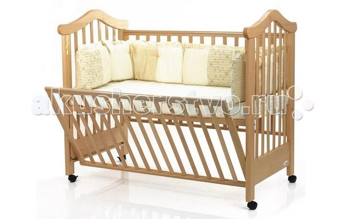 Детская кроватка Fiorellino Lily 120х60Lily 120х60Детская кроватка Fiorellino Lily 120х60 изготовлена из высокогорных альпийских буков, что растут в самом экологически чистом районе планеты.   Правильная обработка древесины, которая затем пойдет на изготовление мебели Fiorellino, является залогом высокого качества. Чтобы кроватка была такой же кристально чистой и экологичной, ее покрывают нетоксичными лаками и краской. Ведь самое главное чтобы спальное ложе малыша было безвредным.   Помимо высококачественных материалов, кроватка является идеальной по своим функциональным свойствам. Бортик кроватки, с силиконовыми накладками можно опустить под дно, тем самым сэкономив место. Это также поможет при уходе за малышом, нажав всего лишь одну кнопку можно быстро организовать совместный сон, при этом ребенок будет находиться у себя в кровати. Конечно, в зависимости от возраста вашего малыша будет удобно менять и высоту бортика и дна.   Приятные мелочи, сделают использование Lilly удобным: Сделано из альпийского бука; 5 позиции высоты дна; Бортик опускается под кровать; Силиконовые накладки на бортиках; Съемные колесики с блокирующим тормозом.<br>