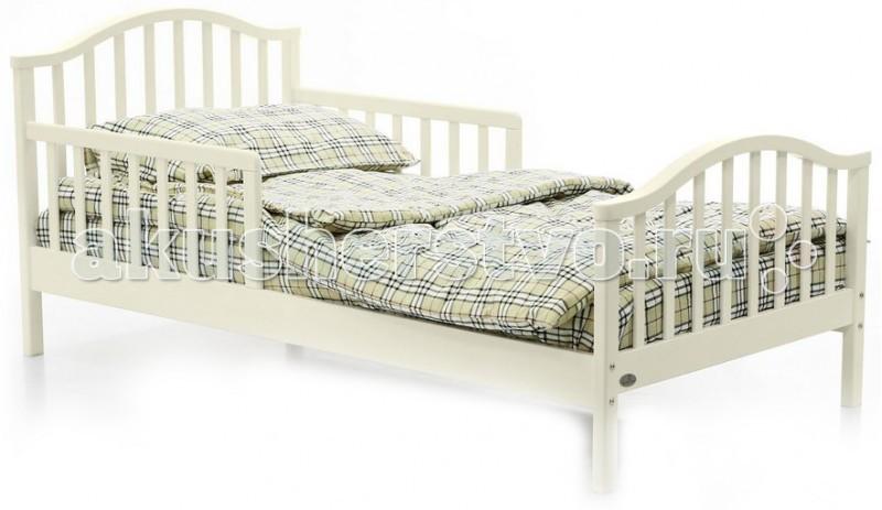 Детская кроватка Fiorellino Lola 160х80Lola 160х80Детская кроватка Fiorellino Lola 160х80 - это сочетание прекрасного качества, оригинального дизайна и доступной цены.  Изготовлена кроватка из массива альпийского бука, покрыта только натуральными и нетоксичными лаками и красками, которые не выделяют никаких вредных испарений. Дизайн придется по душе Вашему подросшему ребенку, а благодаря оптимальному размеру спального места, ребенок будет чувствовать себя комфортно.  Основные характеристики:  комфортная кровать для подростка стильный дизайн: спокойные цвета, плавные линии материал: альпийский бук надёжное и прочное реечное ложе нетоксичные лаки и краски, безопасные для детей и родителей<br>