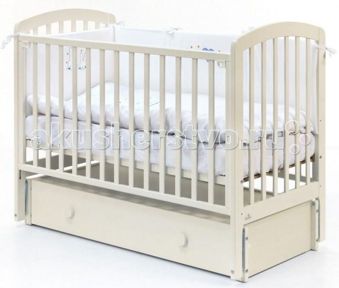 Детская кроватка Fiorellino Tina продольный маятник 120х60 см