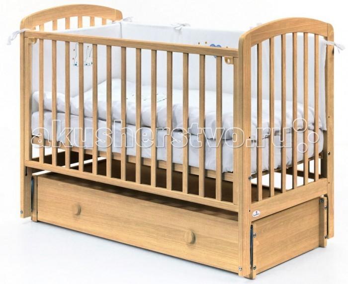 Купить Детские кроватки, Детская кроватка Fiorellino Tina продольный маятник 120х60 см