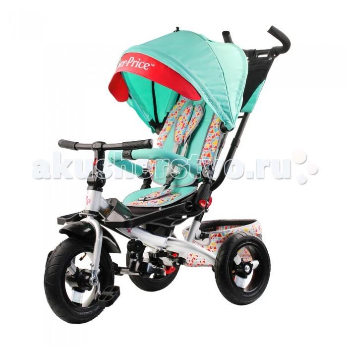 Велосипед трехколесный Fisher Price многофункциональныйТрехколесные велосипеды<br>Fisher Price Велосипед трёхколесный многофункциональный, комфортный и главное, безопасный велосипед для детей.  Особенности: Классическая надежная стальная рама выдерживает нагрузку до 35 кг Складная крыша колясочного типа с фиксаторами положения и дополнительным козырьком от солнца Складные подножки «для отдыха» для самых маленьких Большие подножки для малышей для дополнительного комфорта ребенка Большой багажник для хранения любимых игрушек и мелочей Удобная родительская ручка управления регулируется по высоте, позволяет с легкостью управлять велосипедом за счет поворота переднего колеса Поворотное сиденье: лицом к маме и лицом по ходу движения, сиденье разворачивается 2-мя кнопками: Три положения наклона спинки, максимальный наклон 120 градусов обеспечивают комфорт ребенка, чтобы было удобно спать Сиденье можно подвинуть ближедальше от руля Разъемный бампер безопасности с мягкими подлокотниками Трехточечный ремень безопасности убережет маленького непоседу от падения, вкладыш-«кенгуру» Складной руль Съемные капор, родительская ручка и спинка Надежные и прочные надувные колеса диаметром 12 и 10 дюймов: Свободный ход переднего колеса, чтобы ребенок мог отдохнуть,  велосипедом при этом  управляет взрослый Классический тормоз задних колес для безопасной стоянки Максимальная нагрузка 35 кг