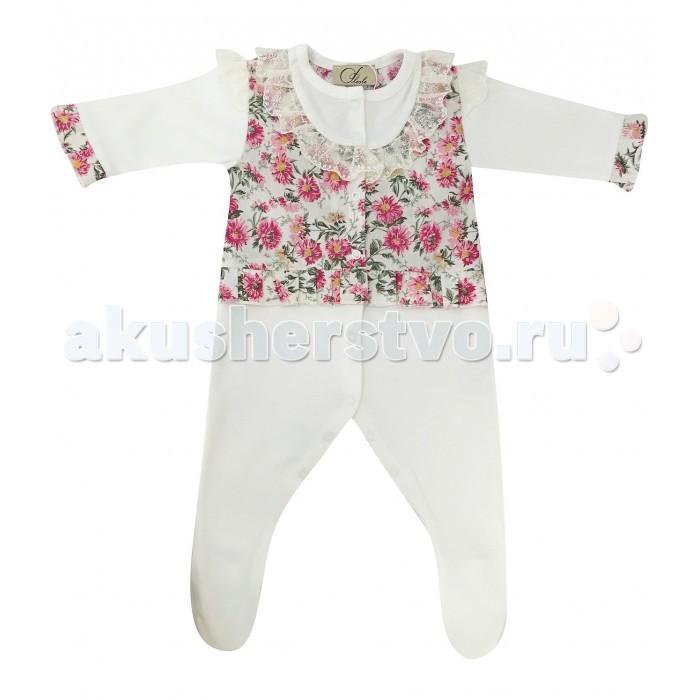 Детская одежда , Комбинезоны и полукомбинезоны Fleole Комбинезон для девочки Цветочная поляна арт: 361823 -  Комбинезоны и полукомбинезоны