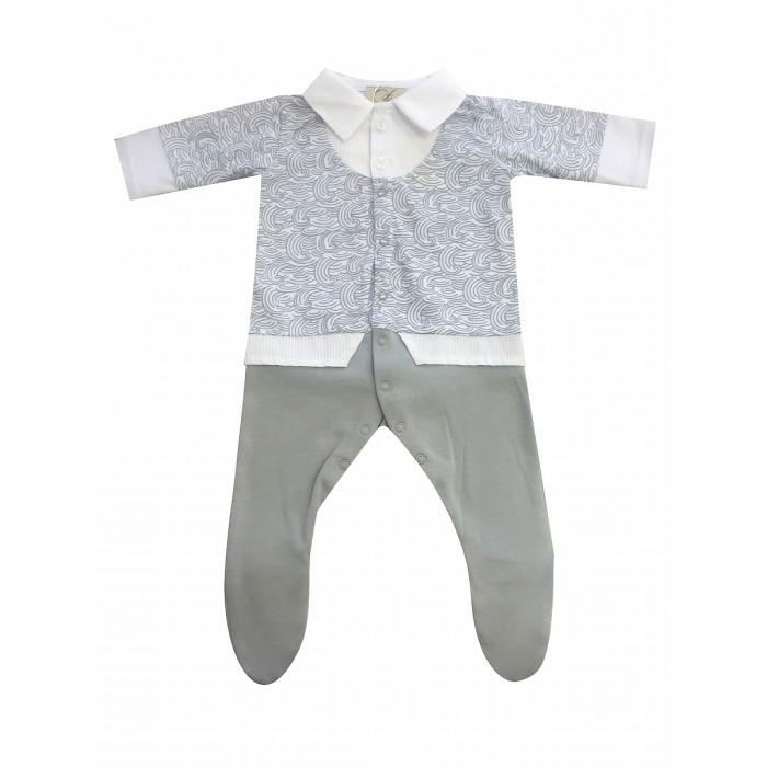 Детская одежда , Комбинезоны и полукомбинезоны Fleole Комбинезон для мальчика Sun rose Волны арт: 361848 -  Комбинезоны и полукомбинезоны