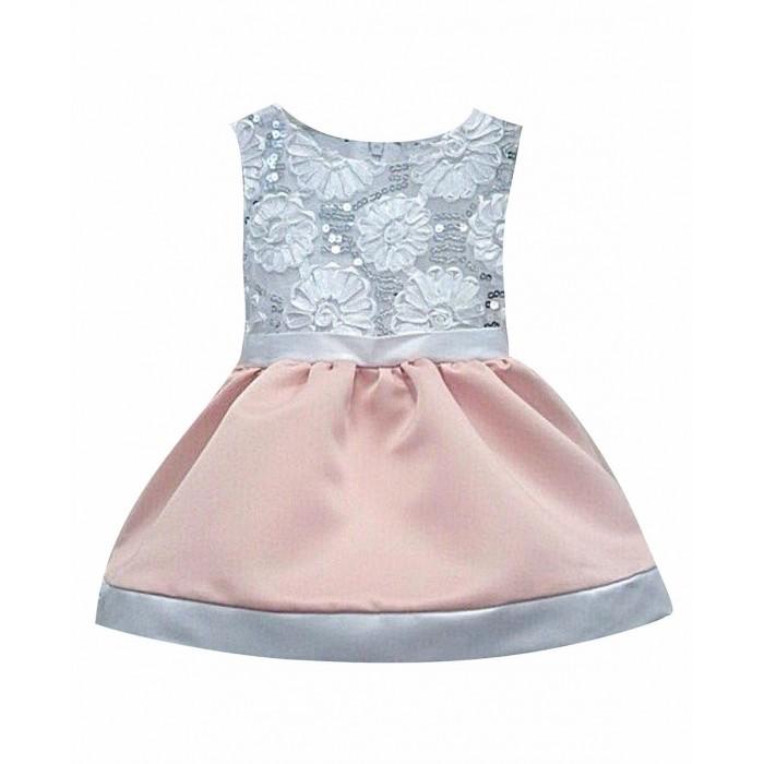Детская одежда , Детские платья и сарафаны Fleole Платье Персиковое арт: 362008 -  Детские платья и сарафаны