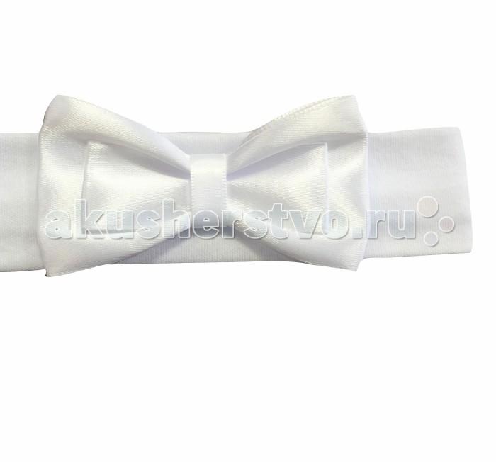 Аксессуары Fleole Повязка для девочки белая с бантом riffi повязка для волос цвет коралловый