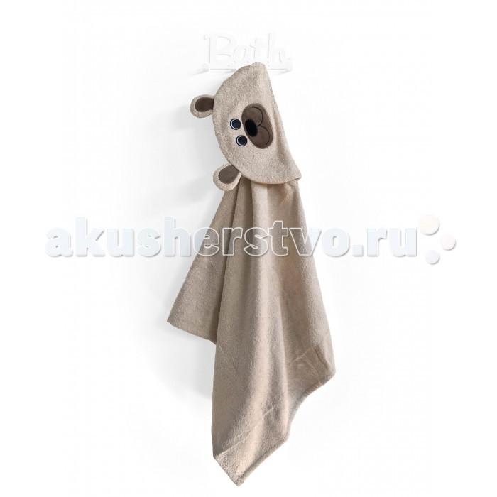 Купание малыша , Полотенца Fluffy Bunny Полотенце с капюшоном Мишка арт: 530751 -  Полотенца