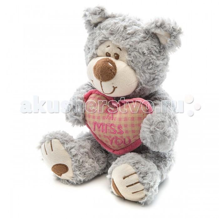 Мягкие игрушки Fluffy Family Мишка Митя с сердцем интерактивная игрушка fluffy family бобер повторяшка от 3 лет 681012 коричневый