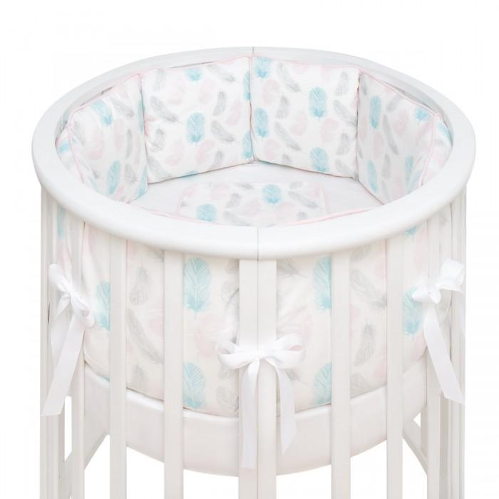 Купить Комплекты в кроватку, Комплект в кроватку Fluffymoon Aurora в круглую бортики-подушки (5 предметов)