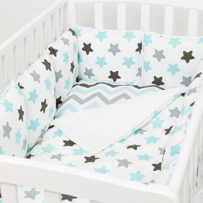 Купить Комплекты в кроватку, Комплект в кроватку Fluffymoon Blue Sky (6 предметов)