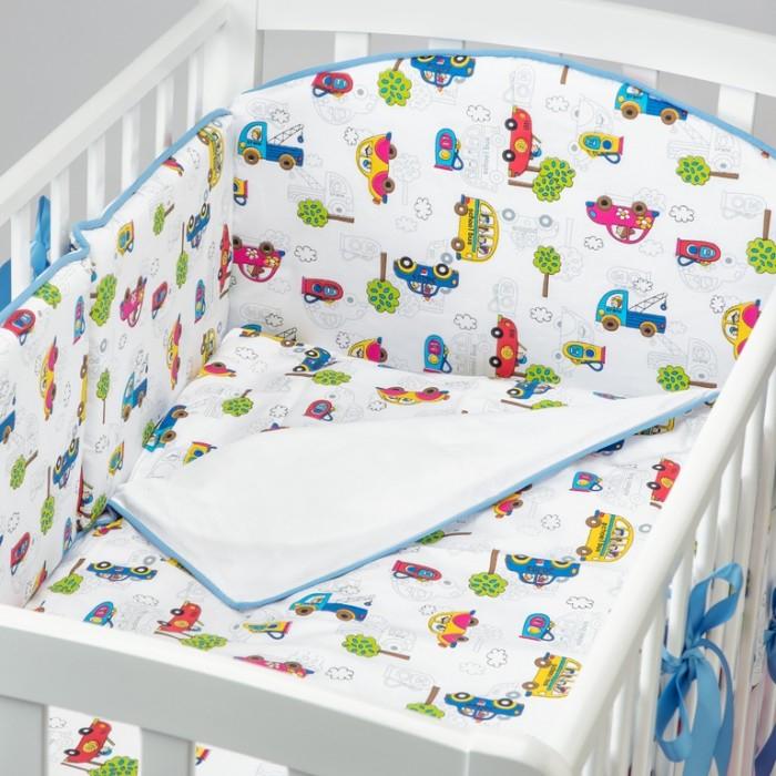 Купить Комплекты в кроватку, Комплект в кроватку Fluffymoon Cars (4 предмета)