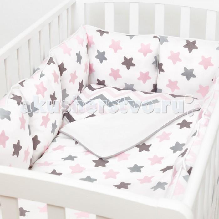 Купить Бортики в кроватку, Бортик в кроватку Fluffymoon Funny Stars 120x60 см