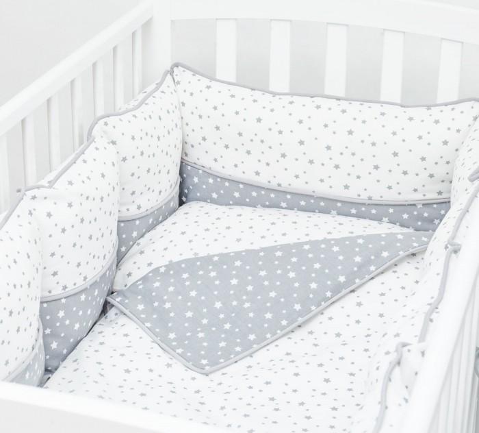 Купить Бортики в кроватку, Бортик в кроватку Fluffymoon Little Star 120х60 см