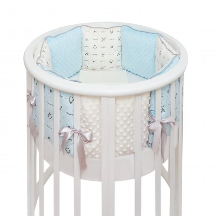 Купить Комплекты в кроватку, Комплект в кроватку Fluffymoon Lovely Baby в круглую подушки (7 предметов)