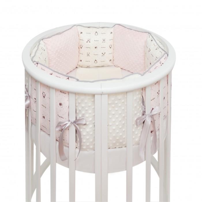 Купить Бортики в кроватку, Бортик в кроватку Fluffymoon Lovely baby в круглую и овальную подушки